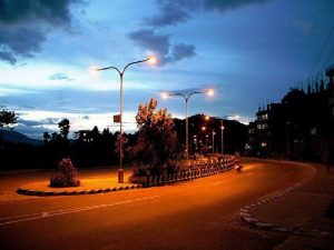 there are enough street lights to make walking safe during the night