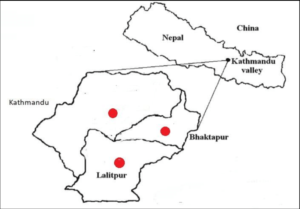 Three districts in the Kathmandu valley. Few hundred years ago, these districts used to be ruled by three different kings.